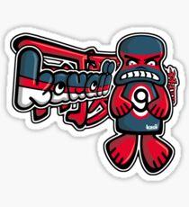 Grumpy Mascot Tag Sticker