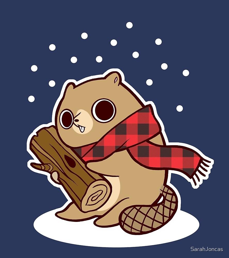 Snow Falling on Beaver by SarahJoncas