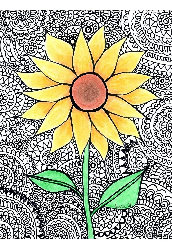 Sun flower by Jimenarte