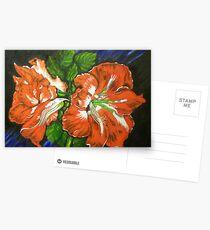 Flaming Amarillas Postcards