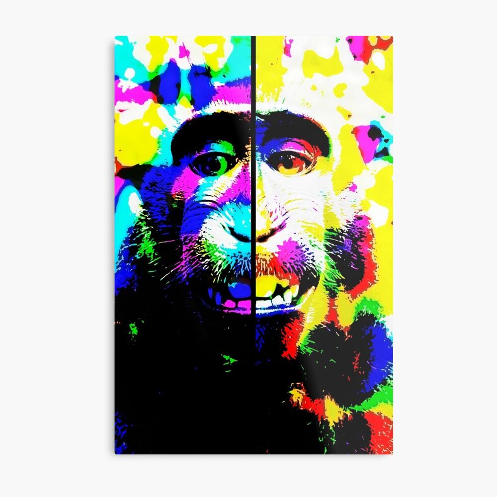 hallucinated monkey Metal Print
