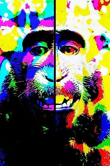 hallucinated monkey by angeldecuir