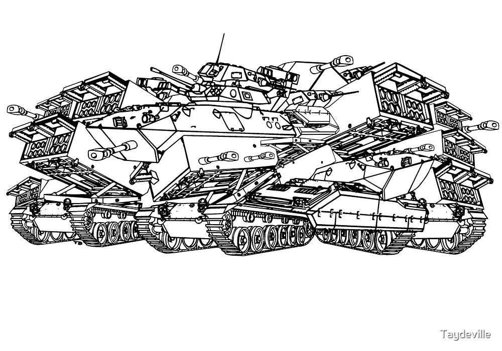 Tanks ( B&w) by Taydeville