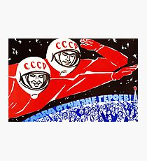 Soviet Space Poster Photographic Print