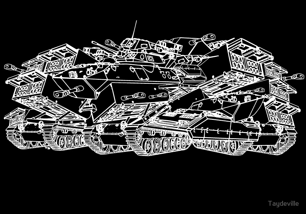 Tanks ( White) by Taydeville