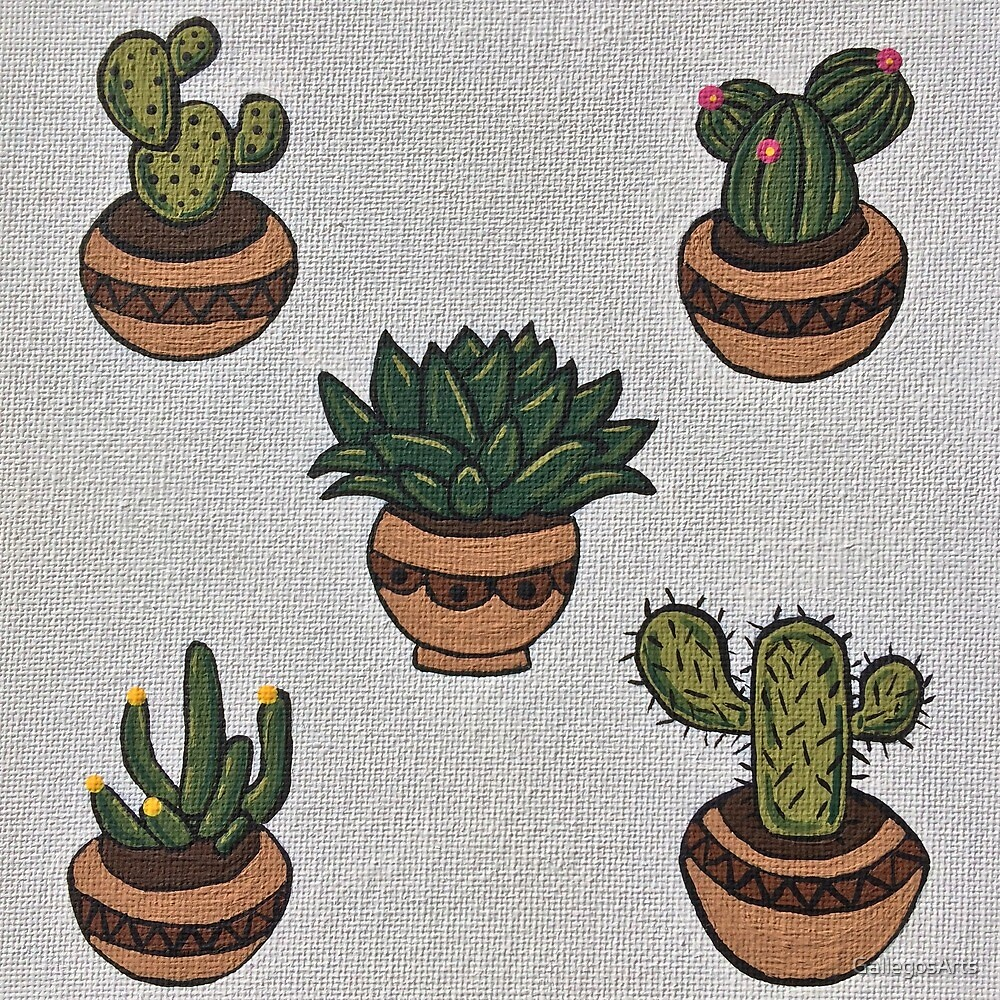 Sock it to me Succulents by GallegosArts