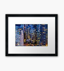 Downtown Robson Vancouver Framed Print