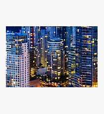 Downtown Robson Vancouver Photographic Print