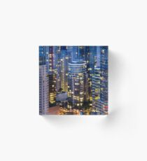 Downtown Robson Vancouver Acrylic Block