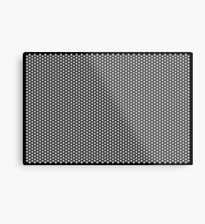 Hexagonal Turtle Pattern Black & White 001 Metal Print