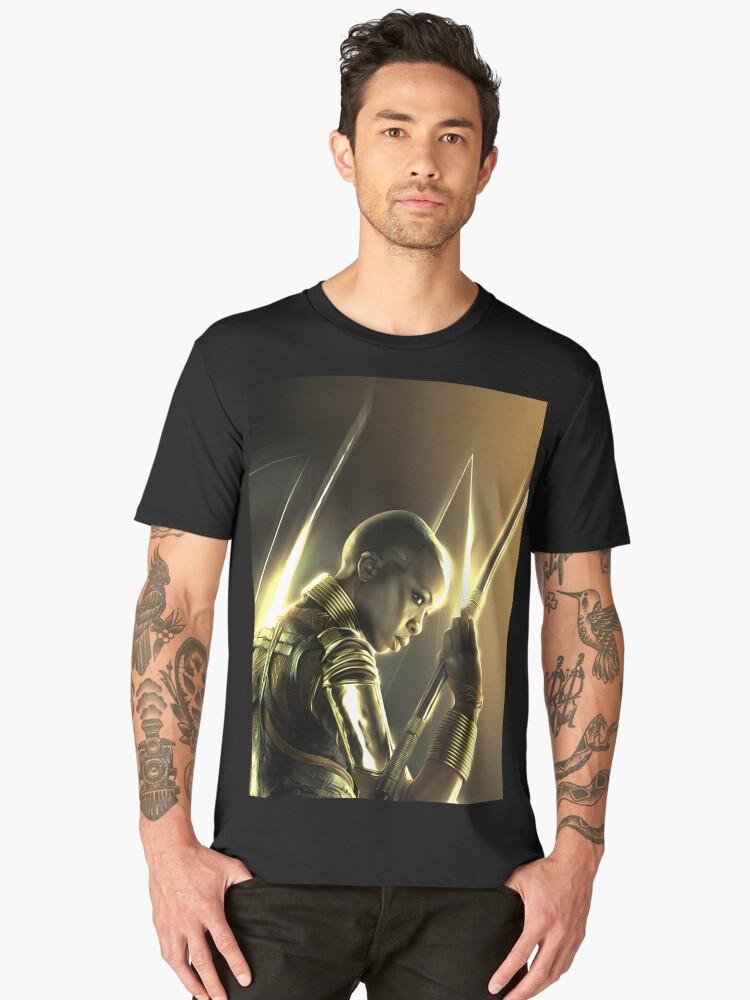 Danai Gurira / Okoye - Celebrity Art (Golden Creation) Men's Premium T-Shirt Front