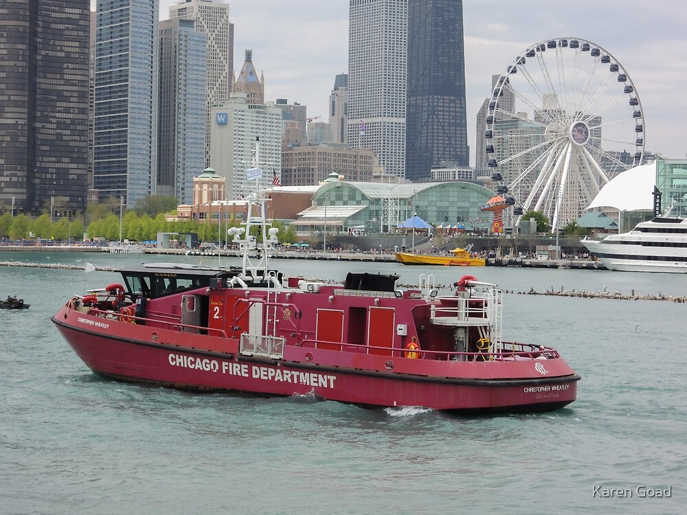 Chicago Fire boat by Karen Goad