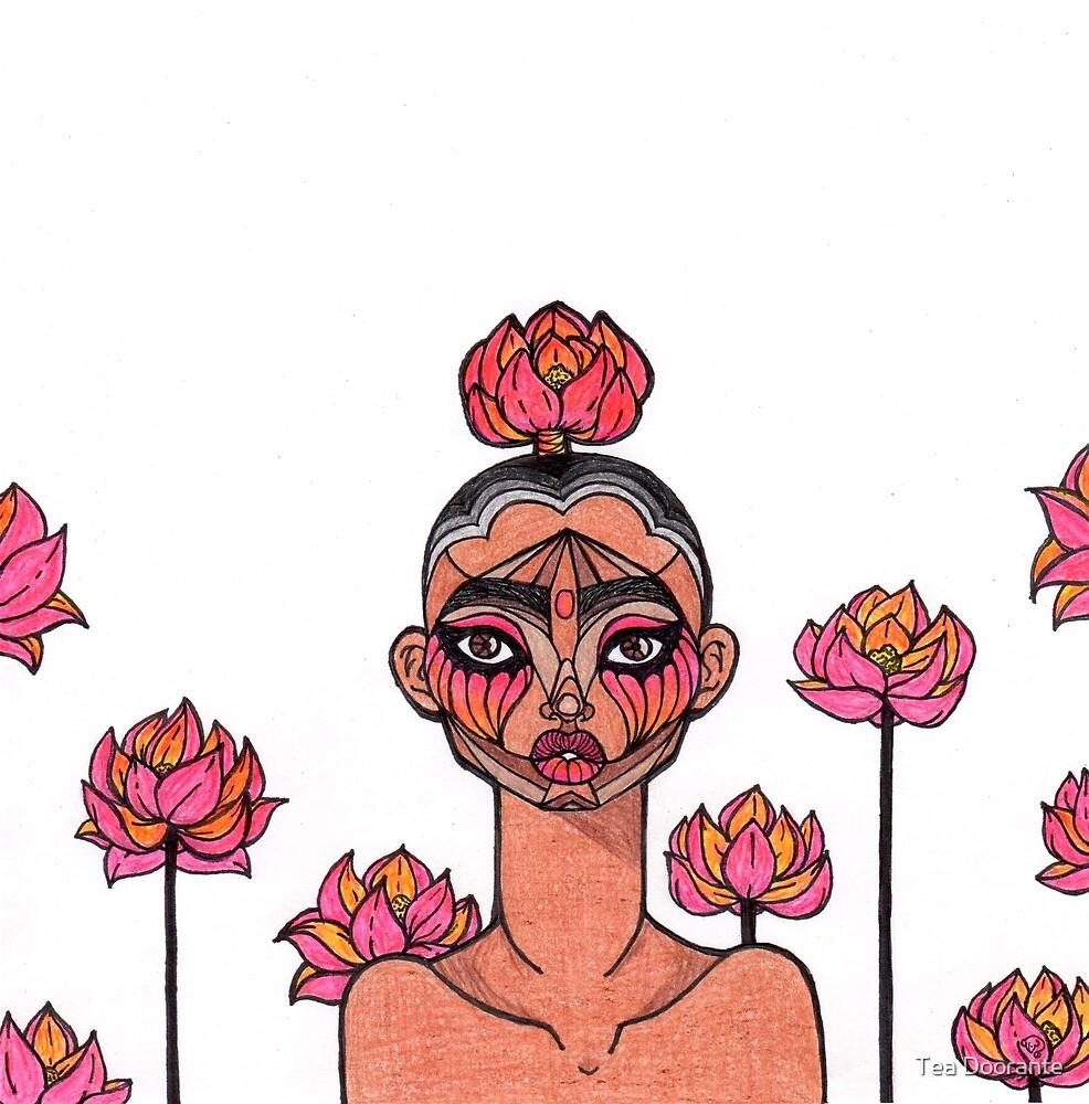 Tribal Florescent by Tea Doorante