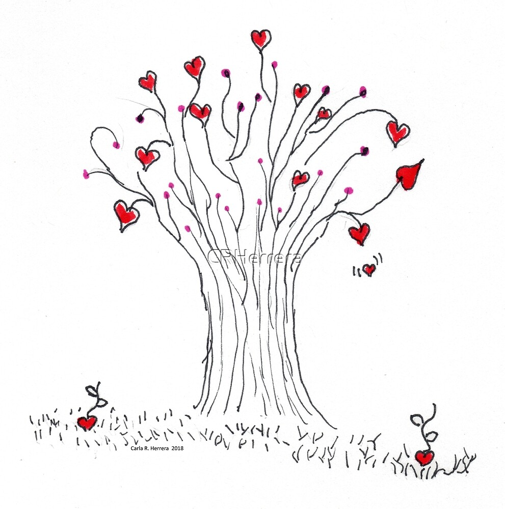 Heart Tree - no background by CRHerrera