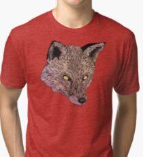 Fox Golden Eyes Tri-blend T-Shirt