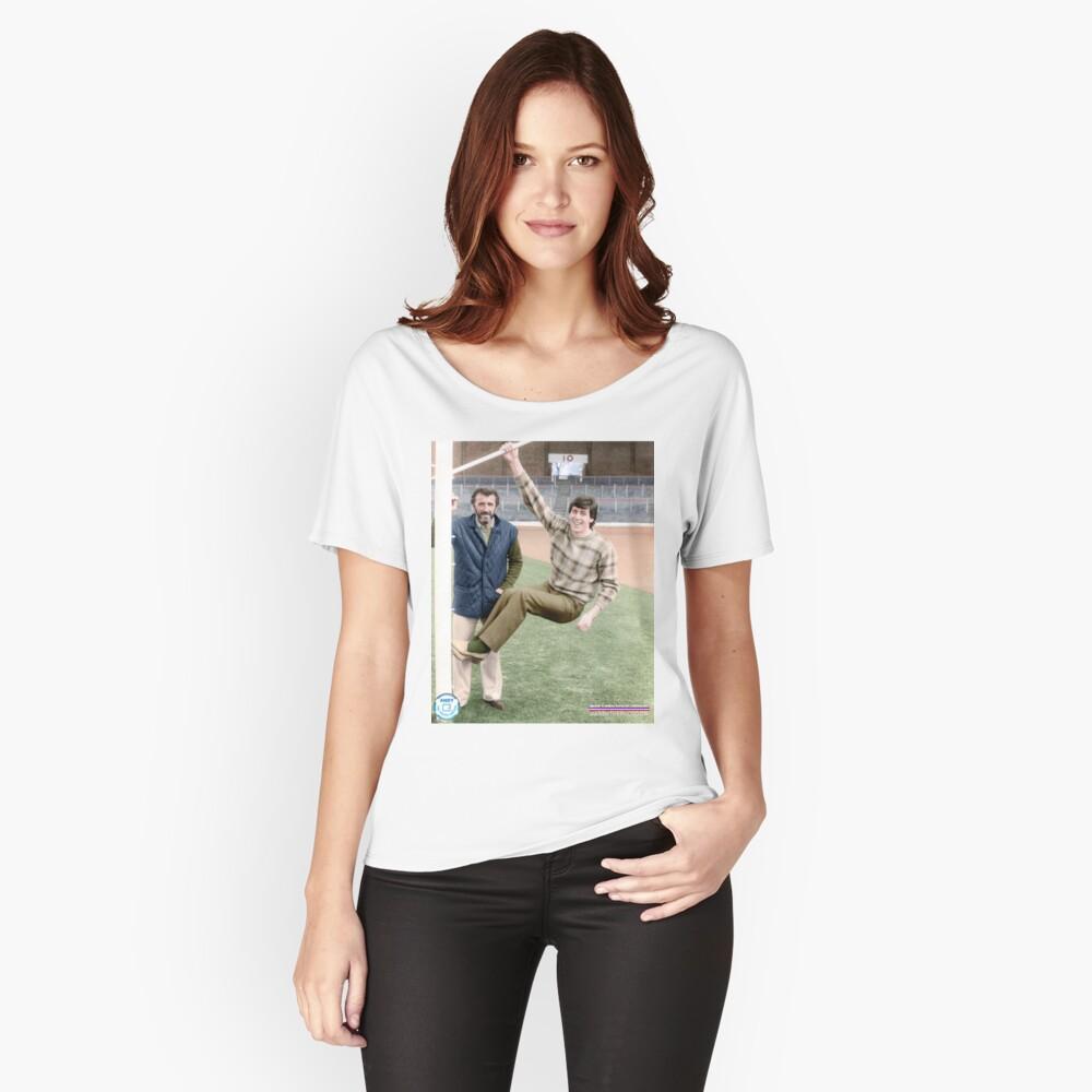 Danny McGrain Pat Bonnar in colour Women's Relaxed Fit T-Shirt Front