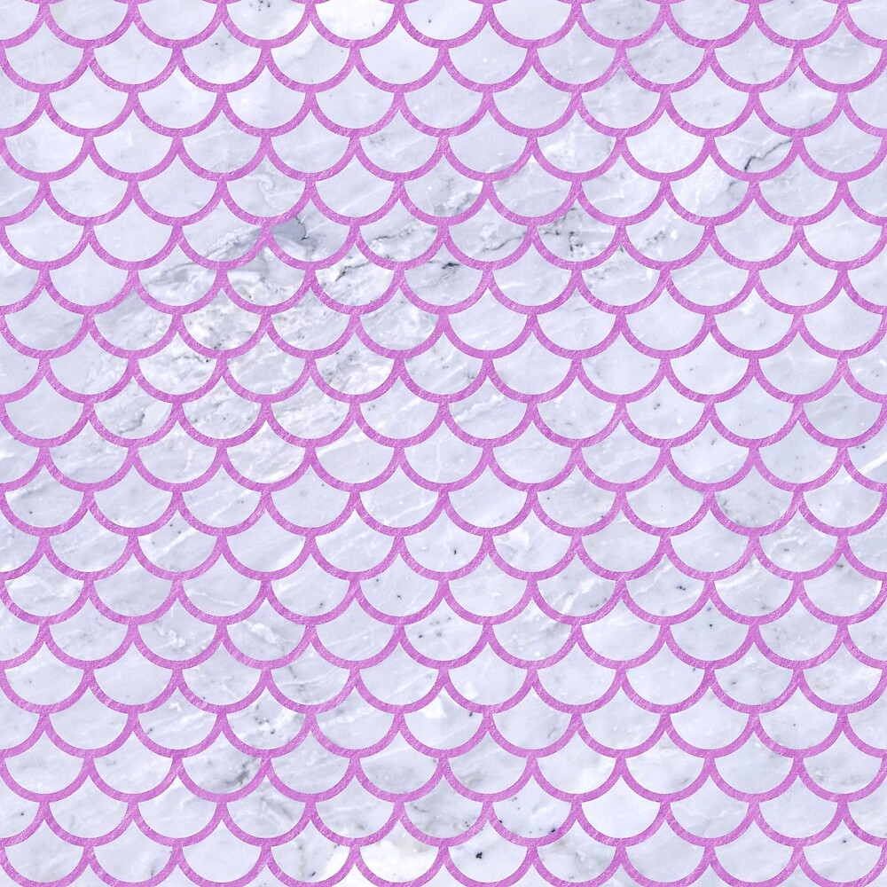 SCALES1 WHITE MARBLE & PURPLE COLORED PENCIL (R) by johnhunternance