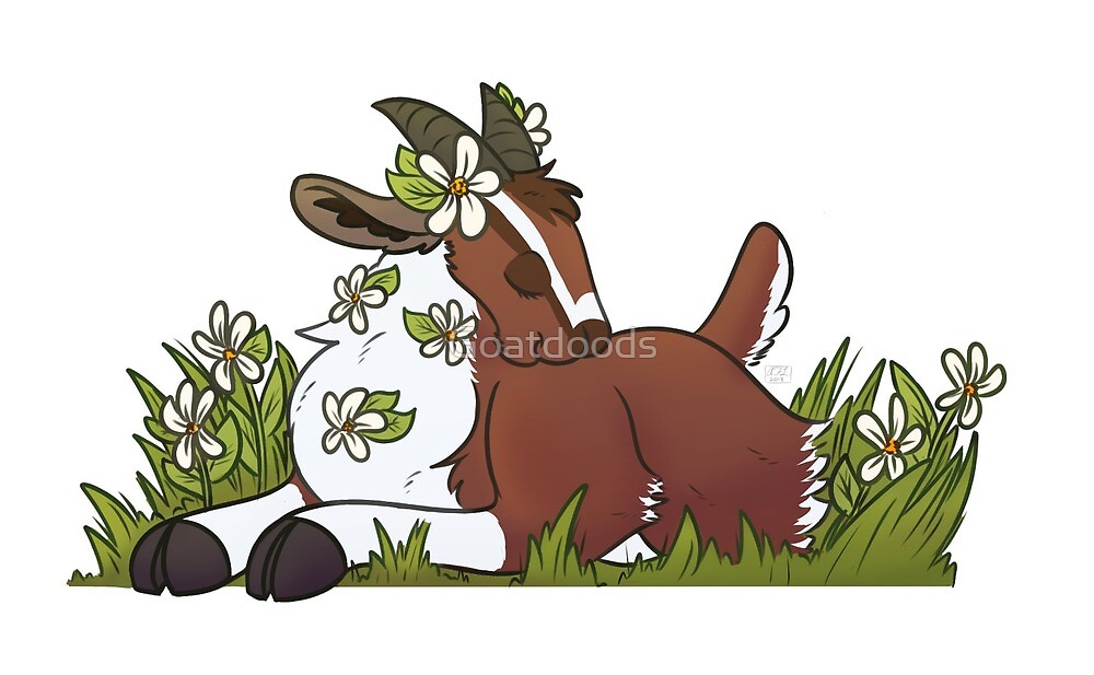 Spring Time Goat by Goatdoods