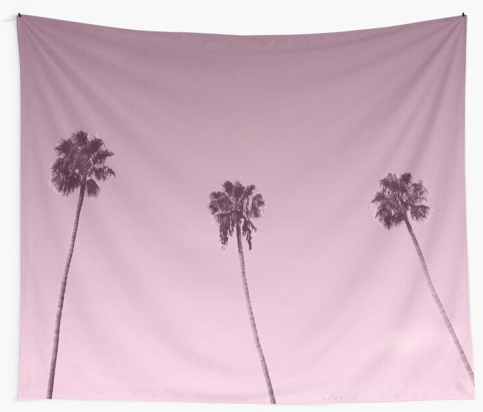 Palm tree sunrise boulevard by RoseAesthetic