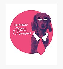 Dachshund Wearing Tie Indubitably Fetch Did Happen Photographic Print