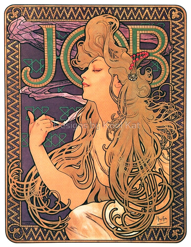 Job Cigarette/Rolling Papers Vintage French Advertising Poster by Framerkat