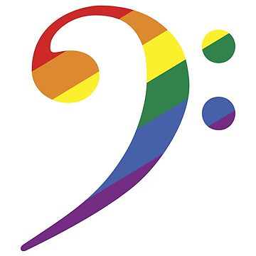 Bass Clef - Rainbow by CoyGraphics