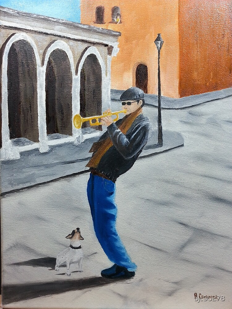 Trumpet Man and Friend by bjc90278