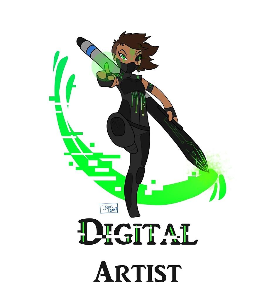 Digital WARRIOR by Joan-Grace