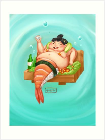 Sumo-Shi Mermaid by gladzykei