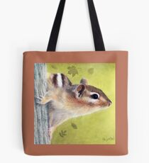 Curious  (Cute Critters - Chipmunk Collection)  Tote Bag
