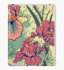 SeaSeamless pattern with decorative  iris flower in retro colors. mless pattern with decorative  iris flower in retro colors.  iPad Case/Skin