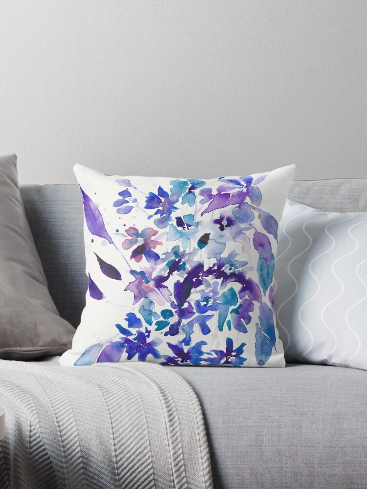 Billy Jean Blue Modern Floral by Joni Murphy Arts