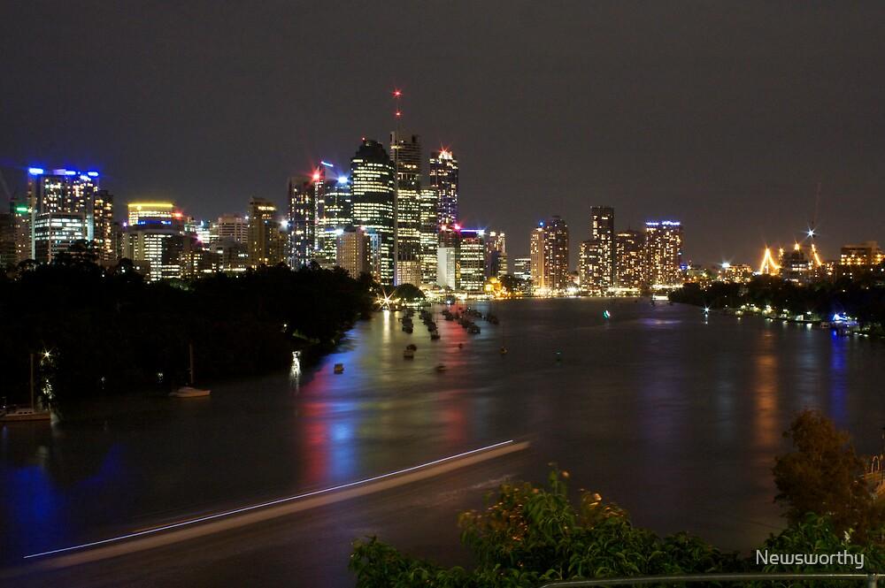 Brisbane CBD from Kangaroo Point 1 by Newsworthy