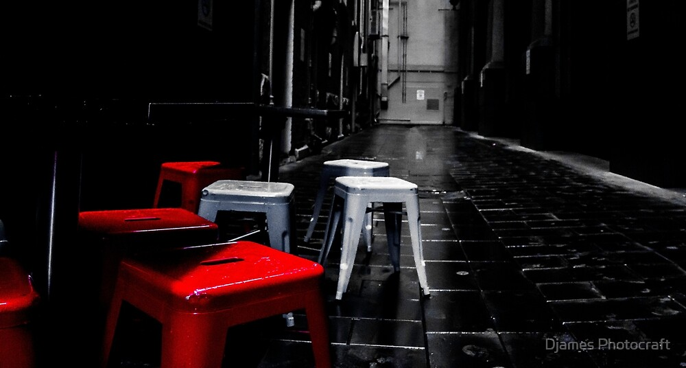 red stools end by Djames Photocraft