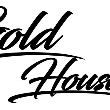 Cursive Gold House Black by GoldHProducts