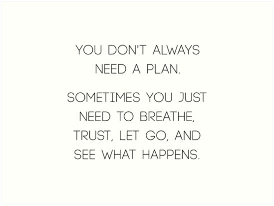 You don't always need a plan by RoseAesthetic