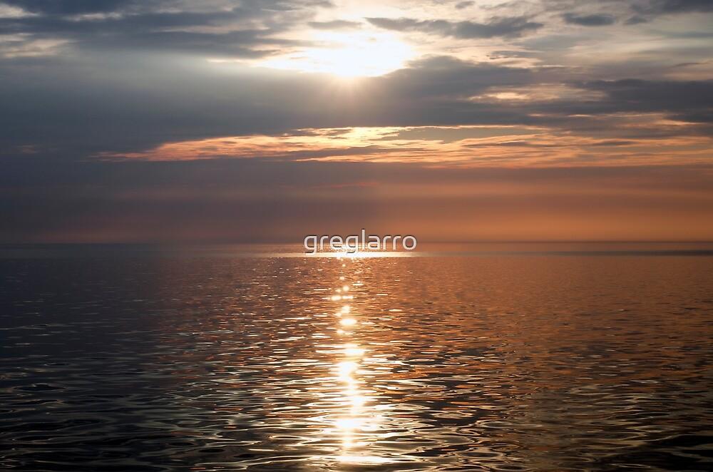 Sunset on the Lake 1 by greglarro