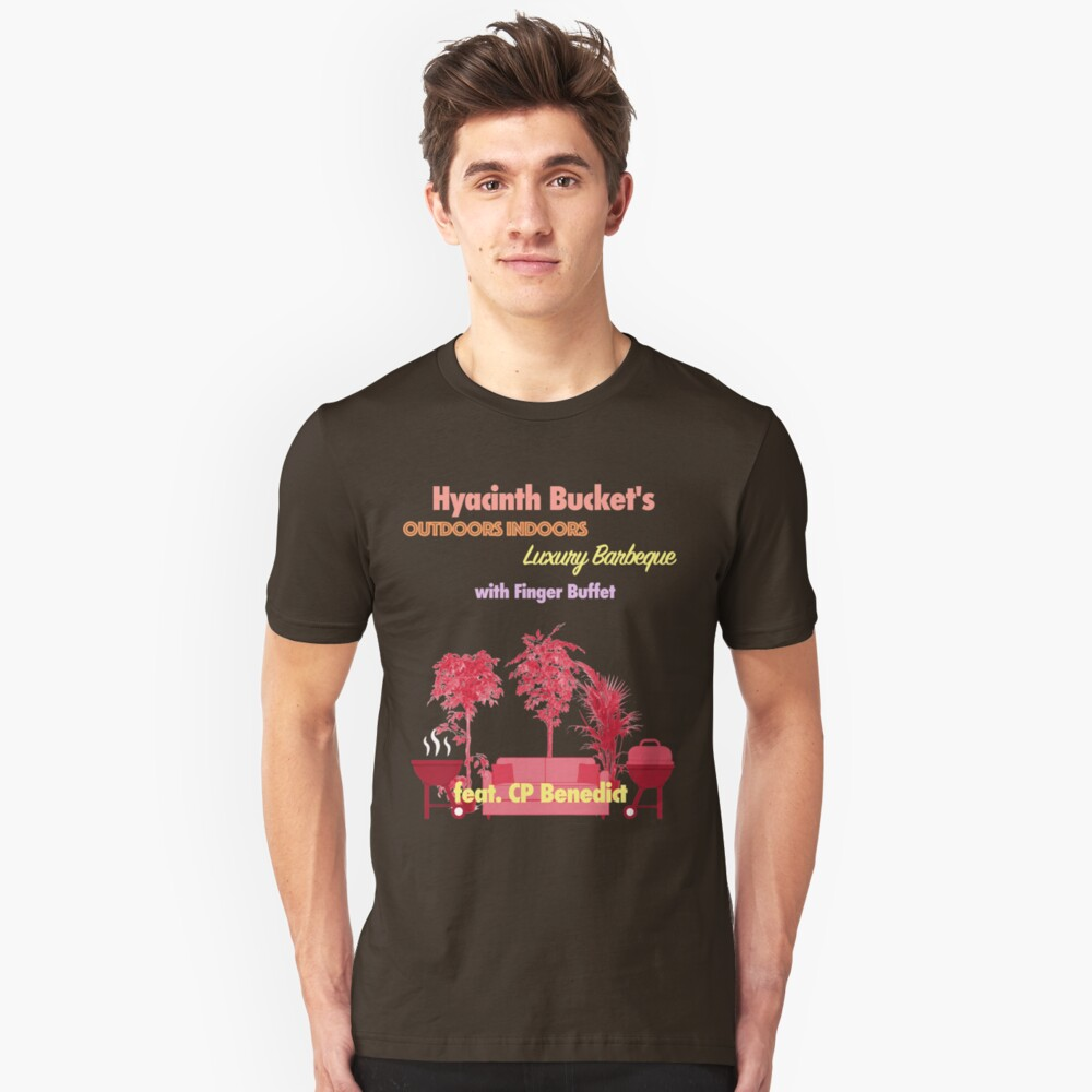 Outdoors Indoors Luxury Barbecue Flyer  Unisex T-Shirt Front