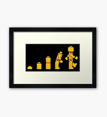 Evolution Of Lego Man Framed Print