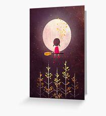 A Little Night Wanderer Greeting Card