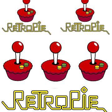 RetroPie Logo Sticker Set by Heath3827