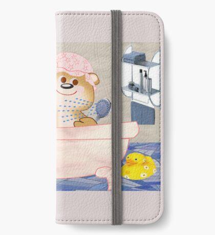 Teddy in the bath tub (6516 Views) iPhone Wallet