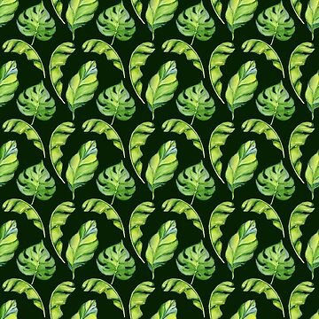 Summer Fashion Tropical Leaves Seamless Pattern by lcorri