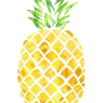 Pineapple watercolor. by AnatOM