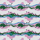 Dreamy Clouds - Pattern // Pale Watermelon by Elli Maanpää