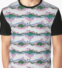 Dreamy Clouds - Pattern // Pale Watermelon Graphic T-Shirt