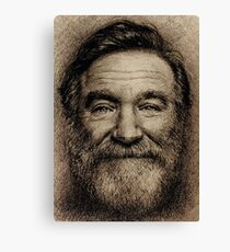 Robin Williams Portrait Canvas Print