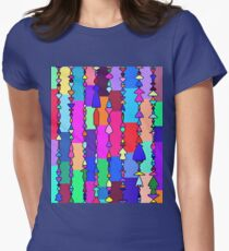 Hippy Beads and Blocks of Color Women's Fitted T-Shirt