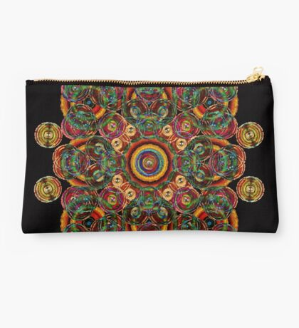 colorful circle abstract Studio Pouch