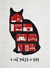A cat makes a home by Sybille Sterk